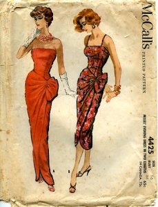 1950s McCalls glamour dresses