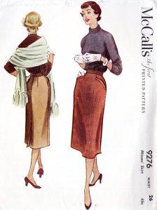 1950s pencil skirt
