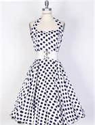 1950s polk dot dress 2